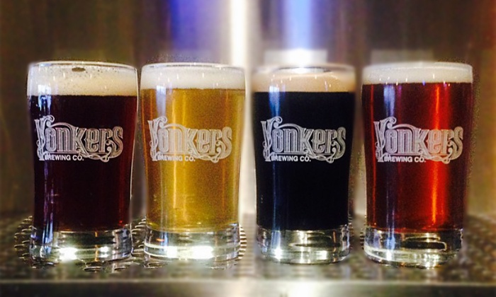 Yonkers Brewing Co. - Downtown Yonkers: Brewery Tour Package for Two or Four with Beer Flights and Appetizers at Yonkers Brewing Co. (Up to 45% Off)