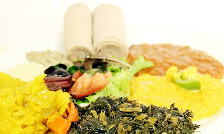 Ethiopian Meal for Two or Four at Barcote Ethiopian Restaurant (Up to 41% Off)
