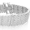 2.00 CTTW Diamond Bracelet in Platinum Plated Brass