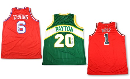 NBA Greats Autographed Jerseys from $139.99–$449.99
