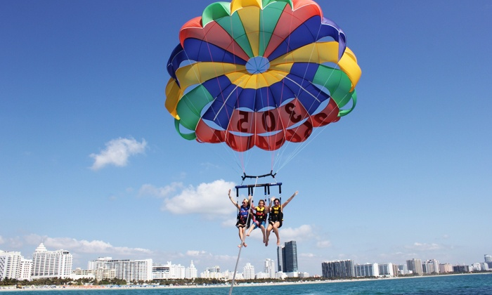 Hollywood Parasail - Multiple Locations: $100 for a 7-10-Minute Tandem Parasailing Flight for Two at Hollywood Parasail ($200 Value)