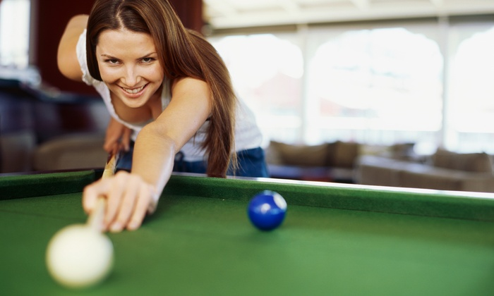 Buffalo's Silver Cue, Llc - Convention Center: 120-Minute Billiards Outing with One Pitcher of Beer at Buffalo's Silver Cue Billiard Ultra Lounge (41% Off)