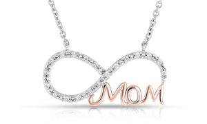 1/7 Cttw Diamond Mom Infinity Pendant