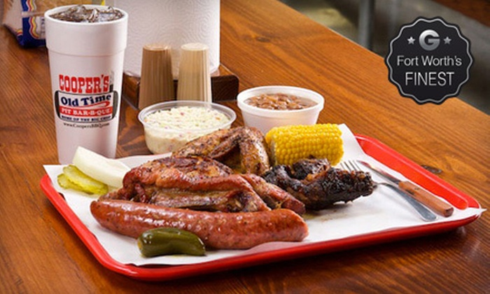 Cooper's Old Time Pit BBQ - Fort Worth: $10 for $20 Worth of Barbecue at Cooper's Old Time Pit BBQ