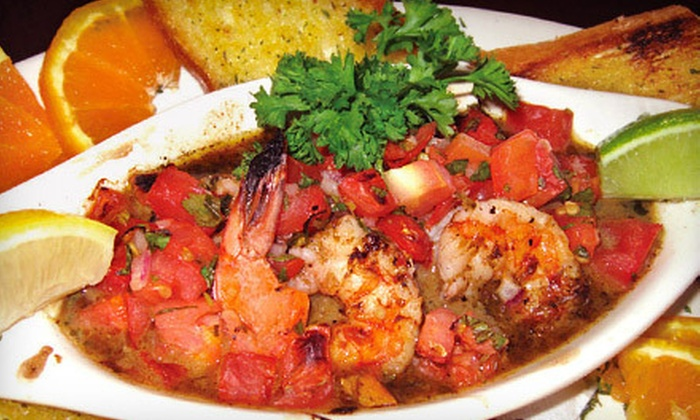 Seaside Grill - Lighthouse Cove Condo: $20 for $40 Worth of Seafood and Drinks at Seaside Grill