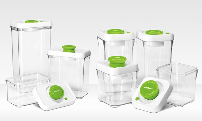 Cuisinart Vacuum-Seal Food Storage Set: 14-Piece Cuisinart Vacuum-Seal Food Storage Set. Multiple Styles from $69.99–$79.99. Free Shipping and Returns.