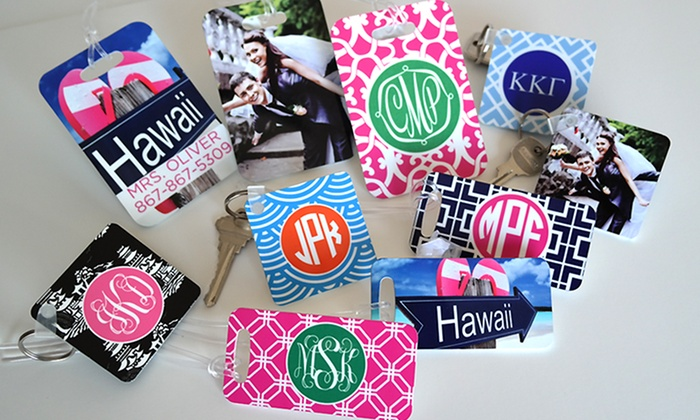 Paper Concierge: Personalized Keychains or Luggage Tags from Paper Concierge (Up to 67% Off). Six Options Available.