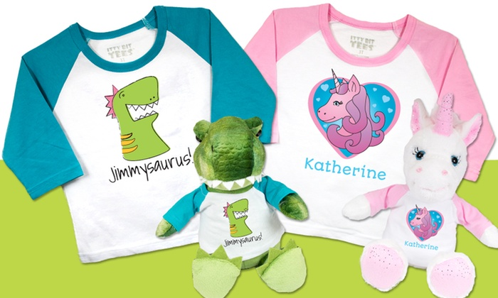Bear Buggy: One, Two, or Three Custom Stuffed Animals and T-Shirts from Bear Buggy (Up to 52% Off). Free Shipping.