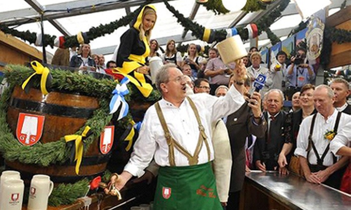 King's Biergarten Oktoberfest - Pearland: Oktoberfest Event for Two with All-You-Can-Eat German Food at the King's Biergarten Oktoberfest (34% Off)