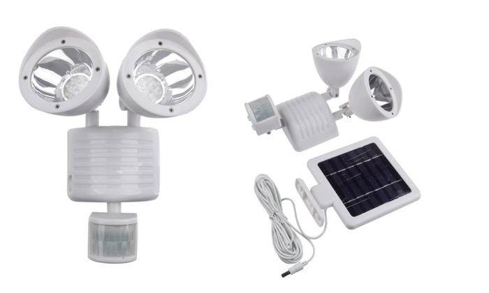 Solar 22 led flood light groupon goods solar 22 led flood light solar powered 22 led motion sensor flood aloadofball Image collections