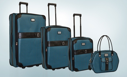Rampage Houndstooth Jacquard 4-Piece Luggage Set. Free Returns.