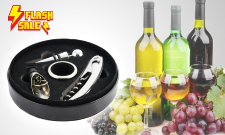 FLASH SALE (ADDITIONAL 35% OFF): $10.90 for 2 Sets of Four-Piece Wine Accessories (worth $79.90)