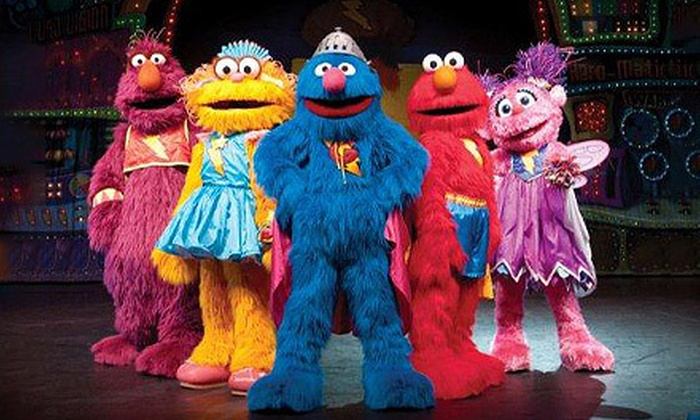 "Sesame Street Live ""Elmo's Super Heroes"" - The Liacouras Center: Sesame Street Live ""Elmo's Super Heroes"" at Liacouras Center on March 21–24 (Up to 31% Off). Eight Options Available."