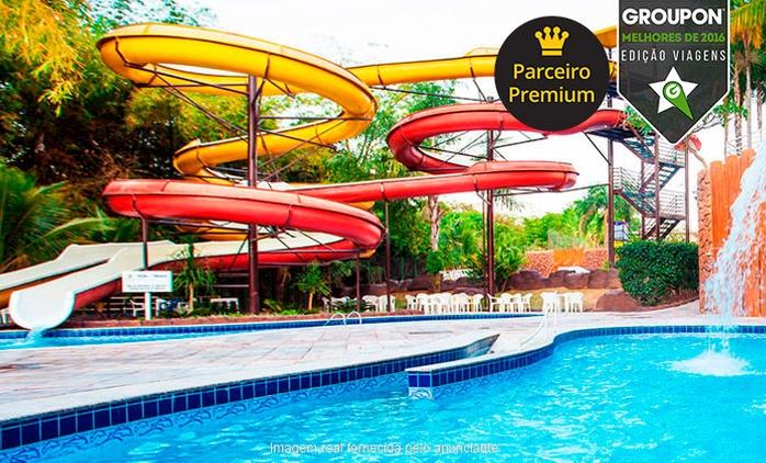 #MelhoresDe2016-Caldas Novas/GO: 2, 3,4 ou 5 noites a 2 + meia pensão (opção em feriados) no Golden Dolphin Grand Hotel
