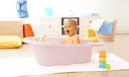 Baby Top Bath with Drain