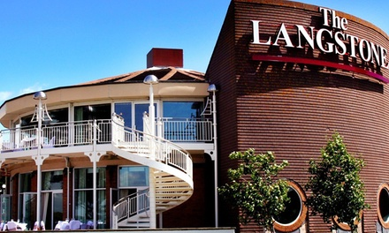 Hayling Island: 1 or 2 Nights For 2 With Breakfast and Leisure Access at the 4* The Langstone Hotel
