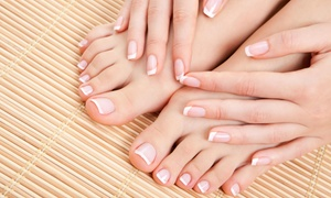 Nails At Bellezza 1 Hair Studio: A Manicure and Pedicure from Bellezza 1 Hair Studio (30% Off)