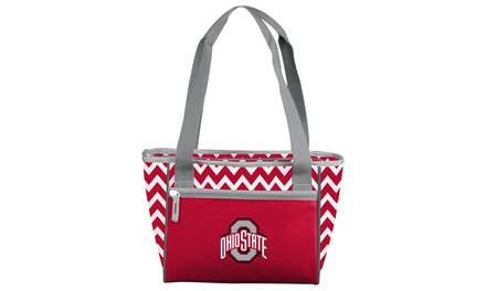 NCAA Ohio State Buckeyes 16-Can Chevron Cooler Tote Bag