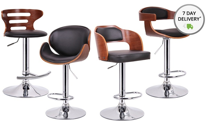 Walnut and Black Modern Barstools: Walnut and Black Modern Barstools. Free Shipping and Returns.