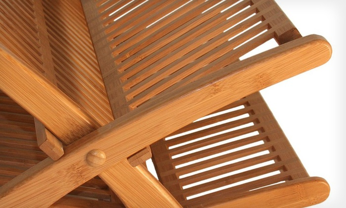 Bamboo Dish Drying Rack Groupon Goods
