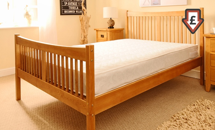 Handmade Shaker Bed Frame (from £119.99) With Mattress (from £174.98) With Free Delivery (Up to 71% Off)