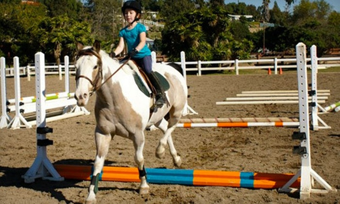 Sweetwater Farms - Bonita: Pony Time Lesson, or Horses 101 Lesson with Option for Single Lesson at Sweetwater Farms in Bonita (Up to 58% Off)