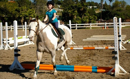 One 30- to 45-Minute Beginner Pony Time Lesson for Kids Aged 4-7 (a $45 value) - Sweetwater Farms in Bonita