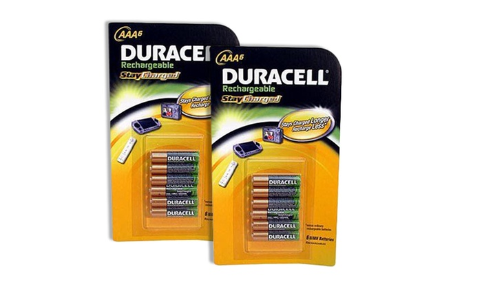 Two 6-Packs of Duracell Stay Charged Rechargeable AAA Batteries: Two 6-Packs of Duracell Stay Charged Rechargeable AAA Batteries. Free Returns.