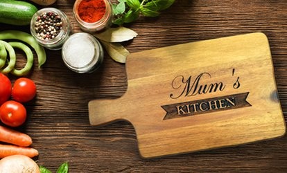 Sustainable Acacia Wood Personalized Cutting Board from PhotobookShop (Up to 81% Off)