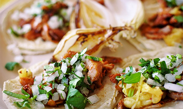 Taco Surf - Belmont Shore: Baja-Style Mexican Cuisine or Taco Feast for 20–30 People from Taco Surf (Up to 45% Off). Three Options Available.