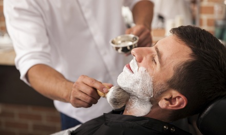 Men's Haircut and Shampoo with Optional Shave and Add-On Service at Hygienix Barber Company (Up to 51% Off)