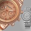 Akribos XXIV Men's Swiss Multifunction Diamond-Accented Watch
