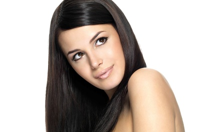 Haircut with Glossing Treatment and Products, or Agave Healing Oil Treatment at Hair International (53% Off)