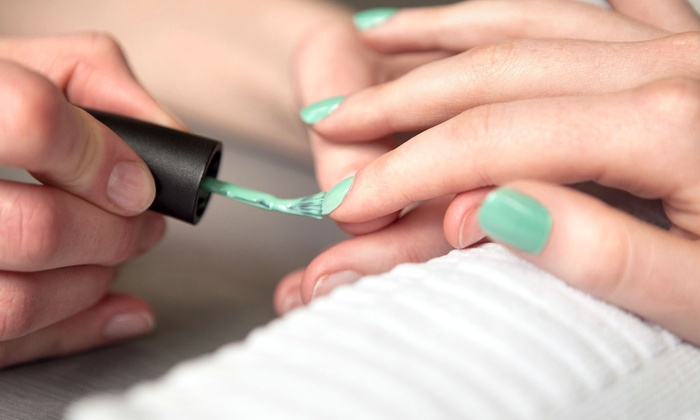 Déjà Vu European Spa & Salon - North Richland Hills: Spa Pedicure with Regular or Shellac Manicure, or Two Shellac Manicures at Déjà Vu European Spa & Salon (Up to 57% Off)