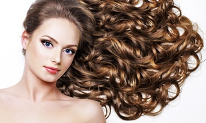 Fallen from Angel Hair Studio: $55 for Cut, Treatment and Blow-Dry or $179 for Balayage with Toner at Angel Hair Studio (Up to $305 Value)