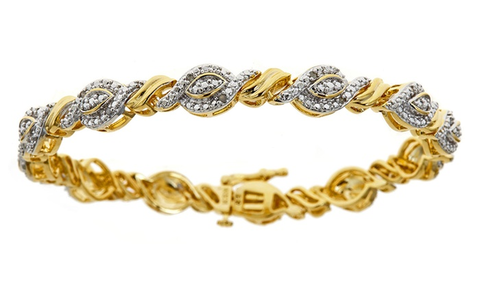 1/4 ct.tw. Diamond Bracelet: 1/4-Carat Diamond Bracelet. Free Shipping and Returns.