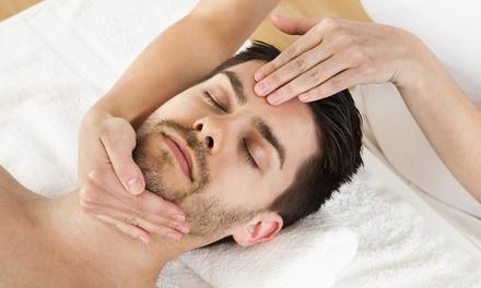 Goldmasken-Gesichtsbehandlungoder Manager-Behandlung für Männer in der Society Lounge Kosmetik & Massage