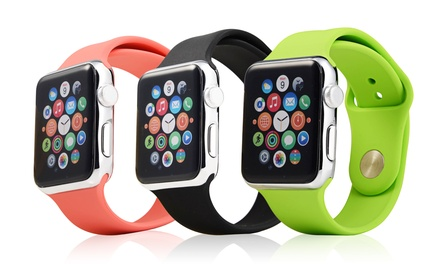 Silicone Sport Replacement Band Strap for Apple Watch