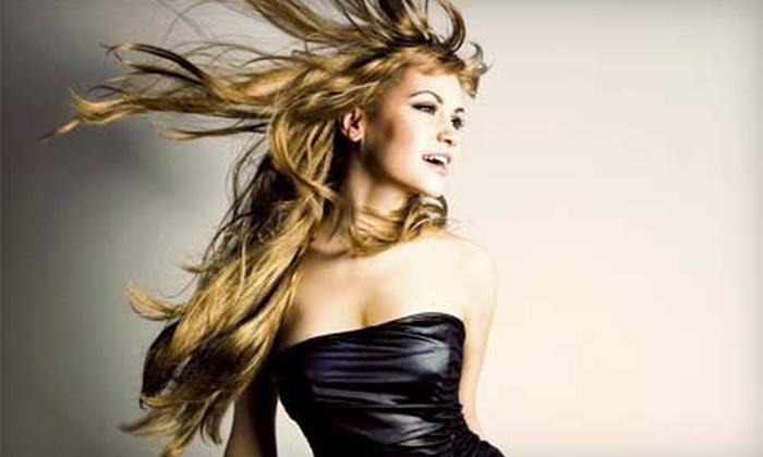 Salon 424 & Spa - Charleston: Haircut and Style with Conditioning, Partial Highlights, or Single-Process Color at Salon 424 & Spa (Up to 80% Off)