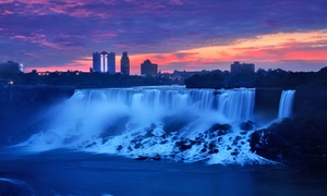 Super 8 Niagara Falls: Stay with Couples' or Family Package at Super 8 Niagara Falls in Niagara Falls, ON. Dates into December.