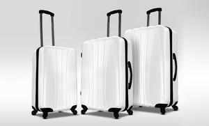 Visionair Riverbend Diamond 3-piece Luggage Set In White