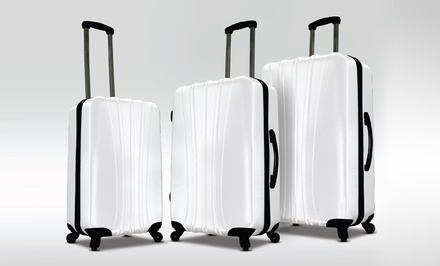 Visionair RiverBend Diamond 3-Piece Luggage Set in White