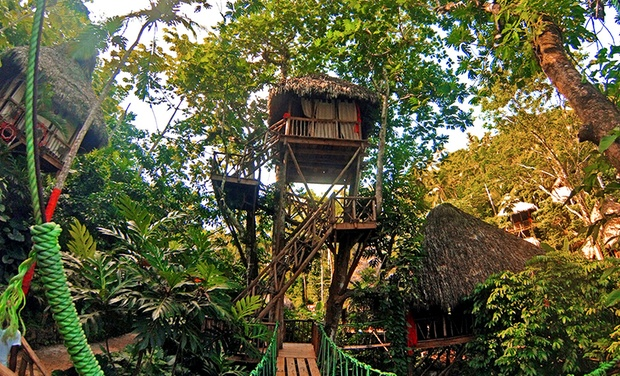TripAlertz wants you to check out 3-, 4-, 5-, or 7-Night Stay for Two at Dominican Tree House Village in the Dominican Republic Dominican Treehouse Cabins with Nature Tours - Dominican Treehouse Resort