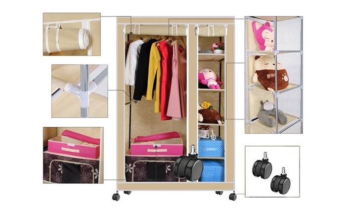 Portable Canvas Wardrobe Groupon Goods