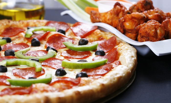 Lotamecheese - Christopher-Champlain: Pizzas, Wedges, CheesyGarlic Bread, and Cans of Soda atLotamecheese(Up to 45% Off). Three OptionsAvailable.