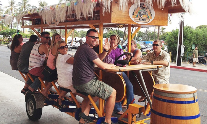 Paradise Pedals Hawaii - Honolulu: Two-Hour Social-Mixer Bike Tour for Four, Six or Eight from Paradise Pedals Hawaii (Up to 61% Off)