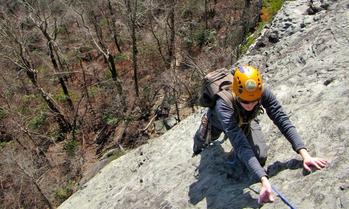 New River Climbing School - New River Gorge: Four-Hour Rock-Climbing Tour for Two from New River Climbing School (Up to 47% Off). Two Options Available.