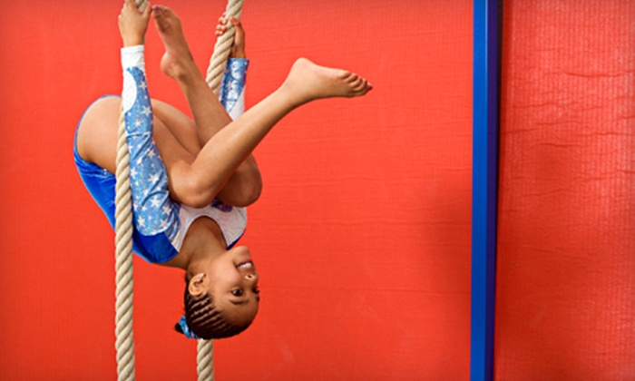 The Gymnastics Place - Far North Dallas: Gymnastics or Boot-Camp Classes or Birthday Party at The Gymnastics Place (Up to 59% Off). Four Options Available.