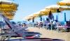 Spiaggia, lettini, flûte Poetto