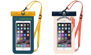 Margaritaville & Landshark Waterproof Smartphone Pouch with Compass